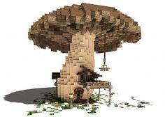 The Ol' Shroom Inn minecraft building ideas hotel house motel Minecraft Villa, Architecture Minecraft, Minecraft Structures, Minecraft Mansion, Minecraft Cottage, Minecraft Castle, Cute Minecraft Houses, Minecraft Houses Blueprints, Minecraft Plans