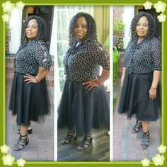 Chiffon top & tulle skirt! Chiffon Tops, High Low, Tulle, Brown, Skirts, Dresses, Fashion, Vestidos, Moda