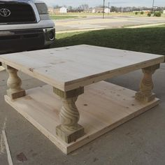 Diy oversized tufted ottoman coffee table upholstered top shelf wood answer one 4 x 4 coffee table my stain is currently oxidizing more information more information diy ottoman solutioingenieria Images