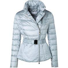 ESCADA Outerwear jacket Mimanda (21.405 RUB) ❤ liked on Polyvore featuring outerwear, jackets, coats, coats & jackets, blue, aquamarine and escada