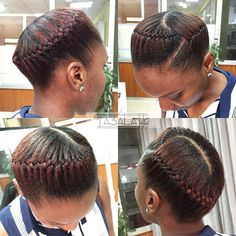 Double five strand braids with lace braids as a halfup style! Have a nice Wednesday ♥️❤️ . Natural Cornrow Hairstyles, Natural Hair Braids, Pelo Natural, Natural Hair Updo, African Braids Hairstyles, Natural Hair Styles, Kid Hairstyles, Black Hairstyles, Pelo Afro