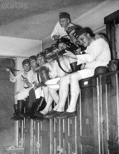 German soldiers relax in their barracks during WWII, ca. 1940. - 42-31920846 - Rights Managed - Stock Photo - Corbis