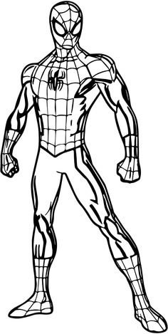 Learn how to draw ultimate spider-man (ultimate spider-man) step by step : drawing tutorials Spiderman Sketches, Spiderman Drawing, Spiderman Kunst, Marvel Drawings, How To Draw Spiderman, Avengers Coloring Pages, Superhero Coloring Pages, Spiderman Coloring, Cartoon Coloring Pages