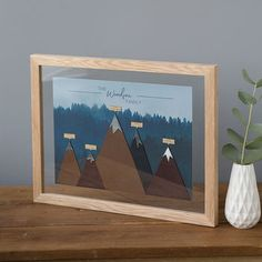 Personalised Family Mountain Print