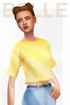 """Belle hair.""""Named after / dedicated to Belle Bledsoe who I love and miss bc her moody daughter took away her spotlight (thanks jaz smh @desertbloom). """" • Comes in all 18 EA colours • Hat..."""