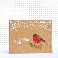 Winter card with Cherrylana designs stamps!