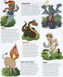 Resultado de imagem para lendas folclóricas brasileiras para imprimir