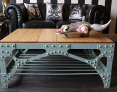 Industrial Stool / Bar Stool Riveted от IconoclastConstructs