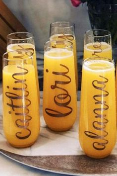When it comes to serving drinks at a socially distanced party there are a number of solutions that you can choose from. Either serve individual serving sodas, juices, or waters or get these fantastic personalized glasses so each guest knows exactly which one is theirs. What is excellent about these glasses is that they double up as a party favor too! See more party ideas and share yours at CatchMyParty.com #catchmyparty #partyideas #socialdistancing #socialdistancingparty…