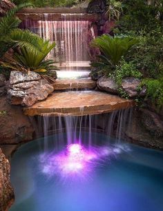 amazing pool with waterfalls cool pinterest backyard swimming pools and house - Cool Pools With Waterfalls In Houses