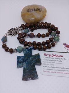 Men's Rugged Rosary,Masculine Rosary,5 Decade Catholic Rosary,Manly Rosary,Semi Precious Stones Rosary, Gift for Him,Birthday,Wedding