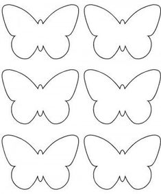 pdf little butterfly deco Butterfly Template, Butterfly Crafts, Flower Template, Butterfly Felt, Crown Template, Butterfly Mobile, Heart Template, Felt Crafts, Easter Crafts