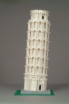 LEGO SCULPTURE Tower of Pisa