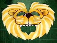 Como hacer una mascara de león