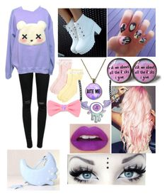 """Pastel goth gurrlll"" by marshmanime ❤ liked on Polyvore"