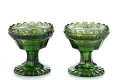 Set of 2 Glass Tealight Holders, Emerald on OneKingsLane.com