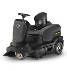 The KM 90/60 R ride-on sweeper is the comfortable alternative to a walk-behind machine. It provides ease-of-use features such as an adjustable seat, large wheels, and power steering. Two sweeping containers have a joint capacity of 13 gallons for longer periods of uninterrupted operation. The washable polyester filter is automatically cleaned after every use. These features make the KM 90/60 R ideal for medium to large areas – even in confined spaces.