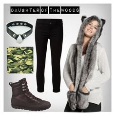 """Daughter of the woods"" by bela-carapinheiro-valimaa on Polyvore featuring moda, NIKE e J Brand"