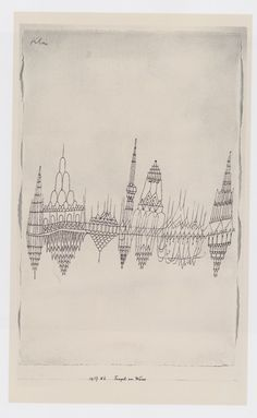 Temples by the Water, 1927 by Paul Klee. Scanned from The Klee Universe. {via wetbehindthears}