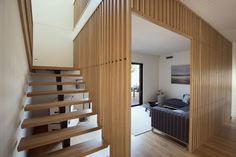 Escalier en bois et metal