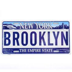 Brooklyn License Plate California License, California Homes, Bridge Model, Brooklyn Neighborhoods, New York Homes, I Love Ny, New York Street, Antique Photos, Street Signs