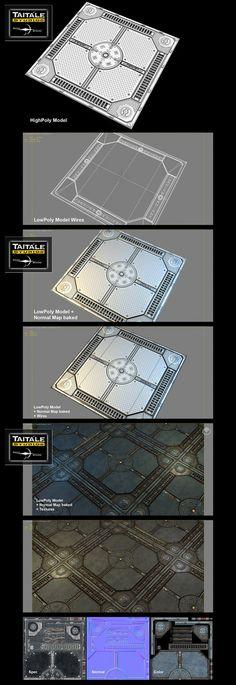 Tilling Sci-Fi Floor by Rotab3D