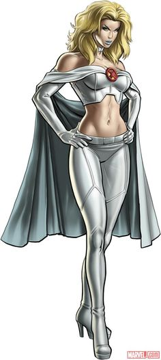 Emma Frost character model from Marvel: Avengers Alliance