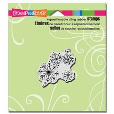 Stampendous CRD180 Cling Rubber Stamp - Winter Snow