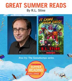 Looking for great summer reads for kids? Here's a recommendation by R.L. Stine! Click through or visit scholastic.com/summer for more. #summerreading