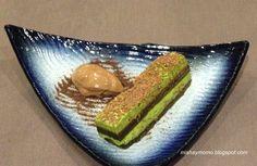 Tiramisu de té verde en restaurante Komori Valencia