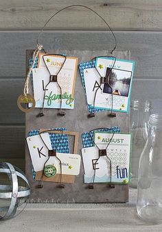 Vintage inspired receipt holder - Lake decor by Kimberly Crawford featuring Jillibean Soup Mix the Media