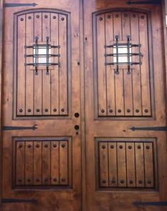 Unfinished Knotty Alder Double Entry Doors With The Works