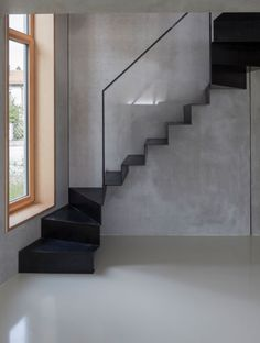 Interior Staircase, Exterior Stairs, Stairs Architecture, Modern Staircase, Staircase Design, Interior Architecture, Small Space Staircase, Steel Stairs, Stair Handrail