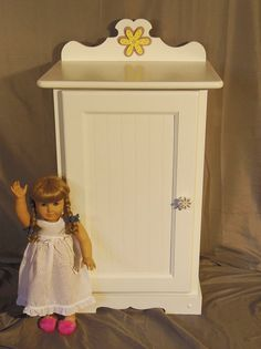 New Doll Armoire For American Girl Doll By Keatingwoodcraft, $225.00
