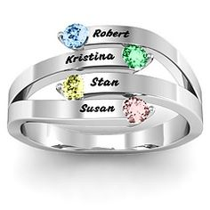 """""""Connection"""" Interwoven Zales... I want this ring for Liam, Raury and Cialan <3"""