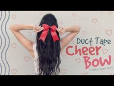 It's time for another Crafty Friday about duct tape! In this DIY, learn how to make a duct tape cheer bow that you can wear in your hair. Duct Tape Jewelry, Duct Tape Bows, Cheerleading Crafts, Duck Tape Crafts, Theme Days, Cheer Bows, Rainbow Loom, New Years Party, Diy Accessories