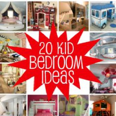 Ideas for kids' room decor and design. http://blogs.babble.com/kid-scoop/2012/01/25/20-kid-rooms