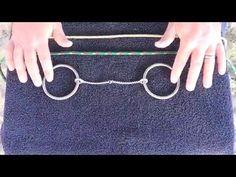 DIY Bit Hobble for Snaffle Bits - YouTube