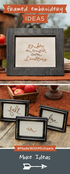 Fall in love with embroidery this season. Check out these framed embroidery ideas.