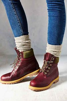 """AHHHH! They come in Burgundy!!! Timberland Burg 6"""" Premium Boot - Urban Outfitters"""