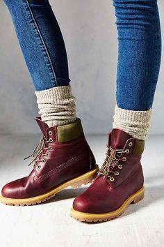 "Burgundy!!! Timberland Burg 6"" Premium Boot - Urban Outfitters"