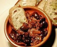 Bible Food: a simple, tasty bowl of olives, baked onions and bread