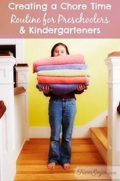 Creating a Chore Time Routine for Preschoolers & Kindergarteners: Balanced Challenge Day 7