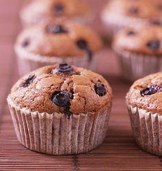 Muffins chocolat myrtilles de Cyril Lignac - les meilleures recettes de cuisine d'Ôdélices - chocolate and blueberry muffins by cyril lignac