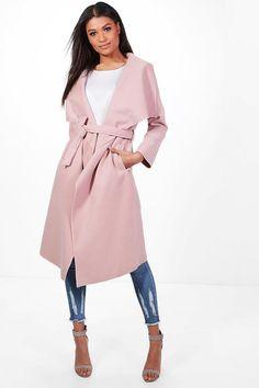 740a6dc624361 Francesca Belted Waterfall Coat Raincoat Jacket