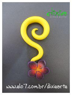 Alargador em Cerâmica Plástica    www.elo7.com.br/dixiearte