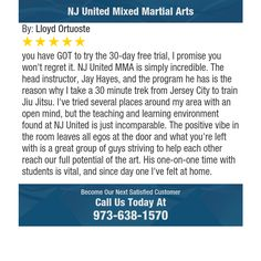you have GOT to try the 30-day free trial, I promise you won't regret it. NJ United MMA...