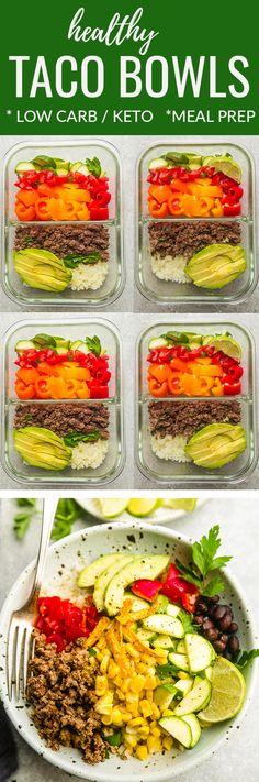 Healthy Taco Bowls -