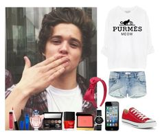 """Day With Brad Simpson"" by deboradaniela ❤ liked on Polyvore featuring Talula, Forever 21, Converse, Nicole Miller, Movado, Bare Escentuals, Laura Mercier, Guerlain, Butter London and Tom Ford"