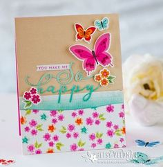 You Make Me So Happy Card by Betsy Veldman for Papertrey Ink (April 2016)